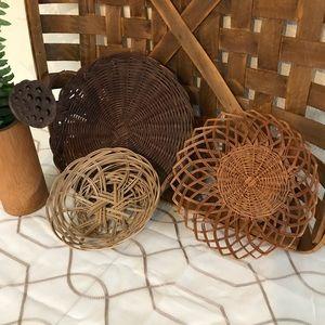 Wall basket decor set of 3 Bohemian